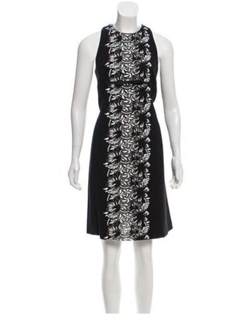 Giambattista Valli - Black Guipure Lace-accented Knee-length Dress - Lyst