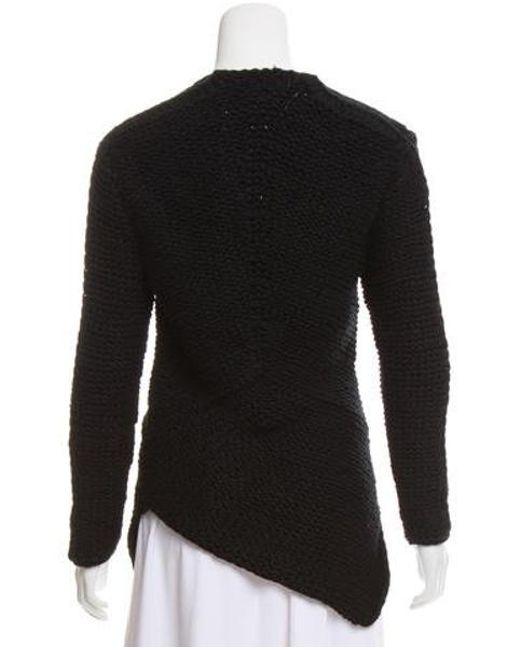 7d568f1e6c ... Narciso Rodriguez - Black Cashmere Heavy Knit Sweater - Lyst