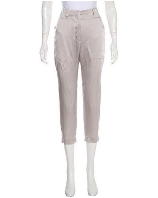 10aa5719fedf Lyst - Brunello Cucinelli High-rise Straight-leg Pants W  Tags Grey ...