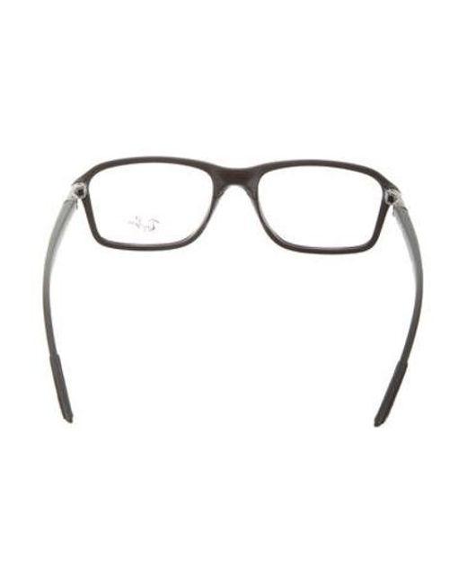 7497c2056b Lyst - Ray-Ban Matte Rectangular Eyeglasses Black in Natural - Save ...