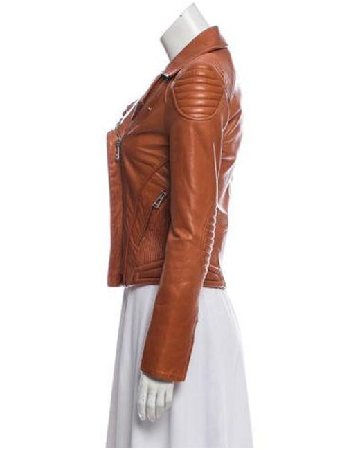 9cced9cfd597 ... Belstaff - Brown Leather Moto Jacket - Lyst ...