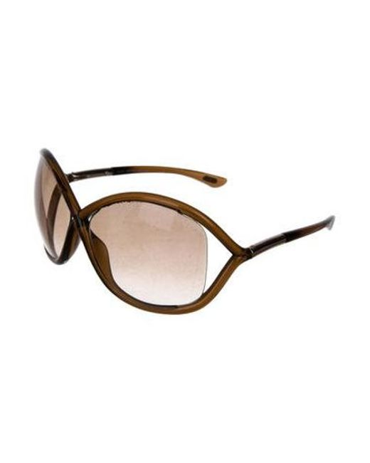 65959437a13 ... Tom Ford - Brown Whitney Gradient Sunglasses - Lyst ...