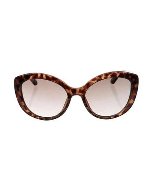 357891d294 Kate Spade - Brown Cat-eye Gradient Sunglasses - Lyst ...