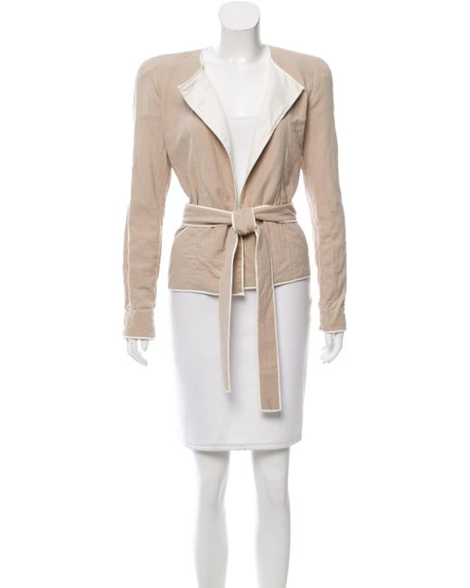 Isabel Marant   Natural Belt-accented Structured Jacket Tan   Lyst