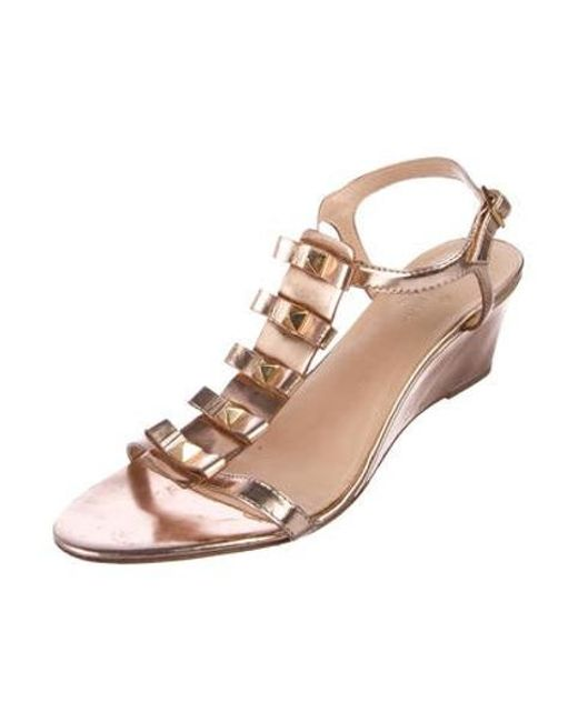a4778c25216bf1 ... Kate Spade - Metallic Wedge Sandals Rose - Lyst ...