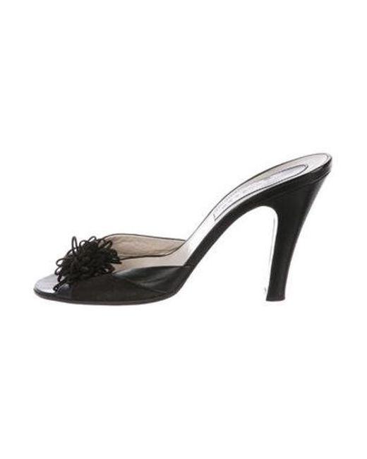 9f01814c96d Marc Jacobs - Black Suede Slide Sandals - Lyst ...