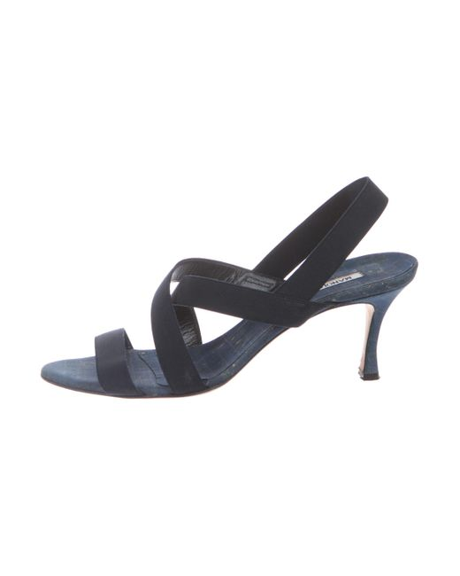 Manolo Blahnik Woven Crossover Sandals shop for cheap online sale outlet locations clearance cheap online nfaHTyW