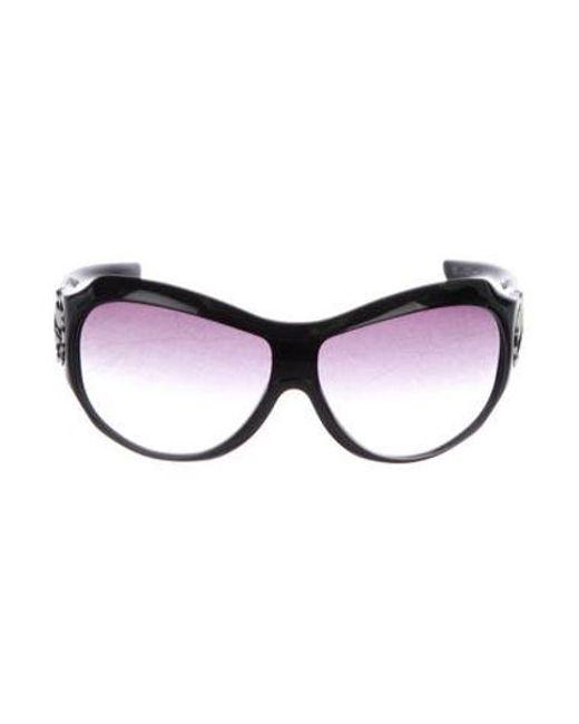 9260afbadad Dior - Black Gradient Logo Sunglasses - Lyst ...