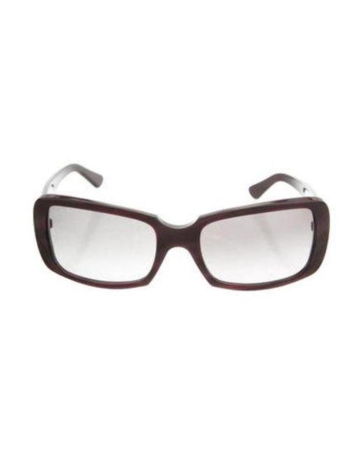 d19d20834062 Cartier - Purple Acetate Square Sunglasses - Lyst ...