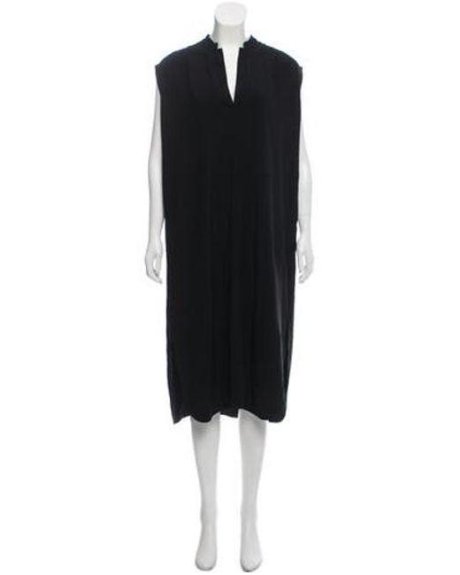 6b9d4633bfd72 Helmut Lang - Black Sleeveless Midi Dress - Lyst ...
