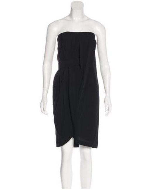 cc9650f974 Martin Grant - Black Silk Strapless Dress W  Tags - Lyst ...