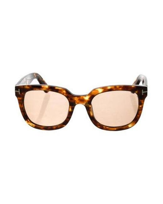 7a8214c70c3 Tom Ford - Metallic Campbell Tortoiseshell Sunglasses Brown for Men - Lyst  ...