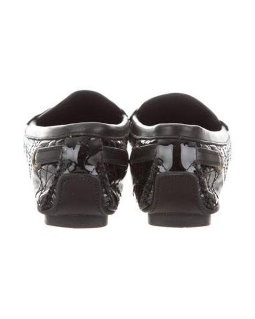 ef2d689ae65 ... Dior - Metallic Cannage Patent Leather Loafers Black - Lyst