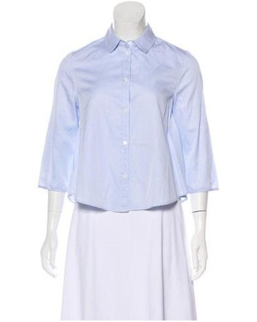 Boy by Band of Outsiders - Blue Collared Button-up Top W/ Tags - Lyst