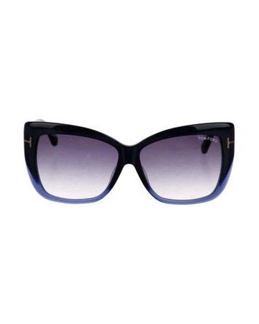 c9d09600a7 Tom Ford - Blue Irina Gradient Sunglasses Navy - Lyst ...