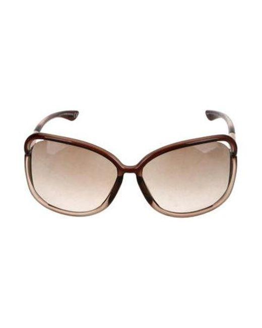 37b038b2afd40 Tom Ford - Metallic Raquel Oversize Sunglasses Brown - Lyst ...