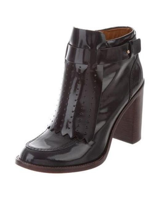 4969d4842f3975 ... Tory Burch - Metallic Hyde Ankle Boots Navy - Lyst ...