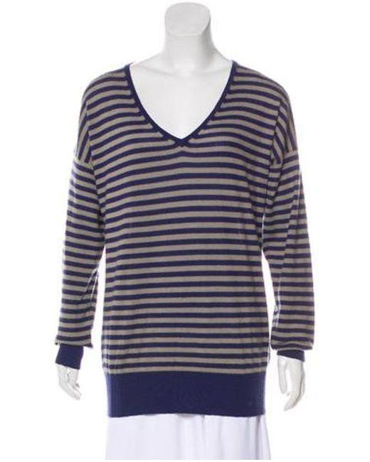 4fcad2fffc90 Lyst - Loro Piana Stripe Cashmere Sweater Navy in Blue