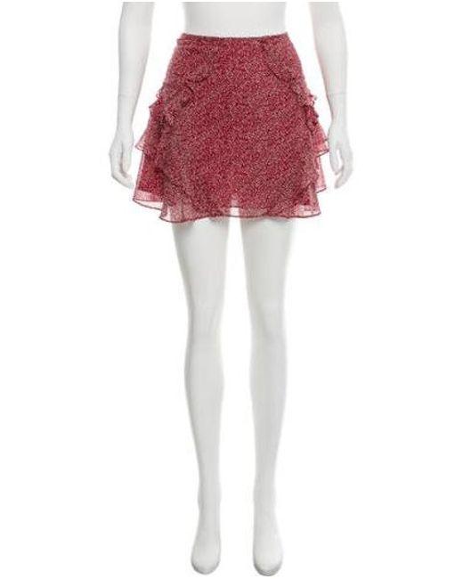 7a9e34443d 10 Crosby Derek Lam - Red Silk Mini Skirt - Lyst ...