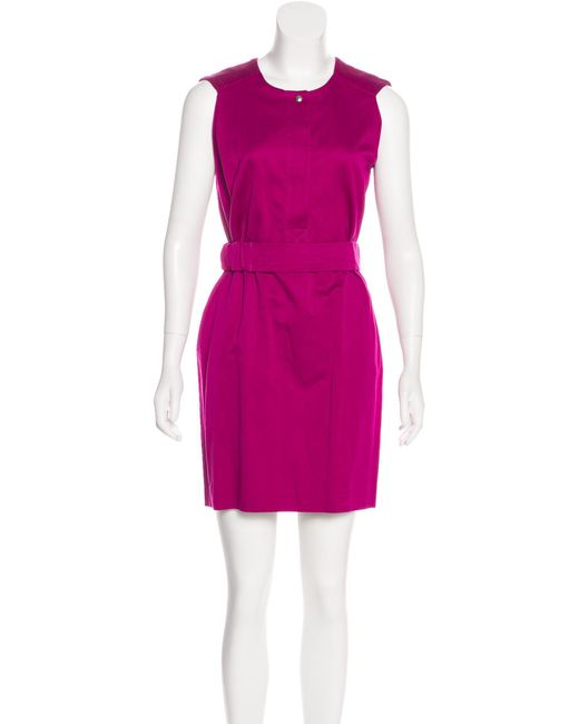 672e6eefc2d33 Sandro - Purple Sleeveless Mini Dress Violet - Lyst ...