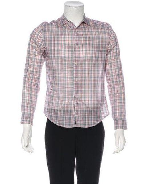 797826c15c15 Louis Vuitton - White Plaid Woven Shirt for Men - Lyst ...