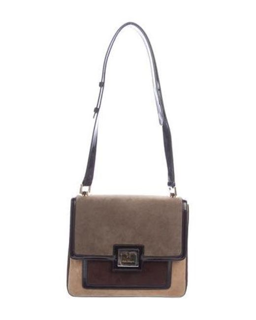 db30088446b4 Ferragamo - Metallic Suede Shoulder Bag Tan - Lyst ...