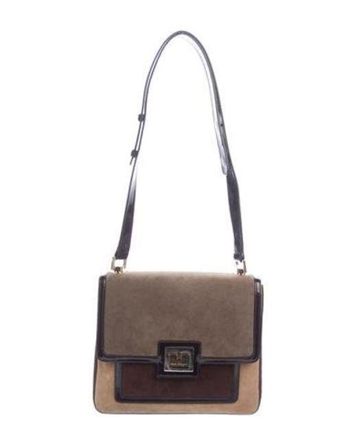 Ferragamo - Metallic Suede Shoulder Bag Tan - Lyst ... d7a4be559dc5b