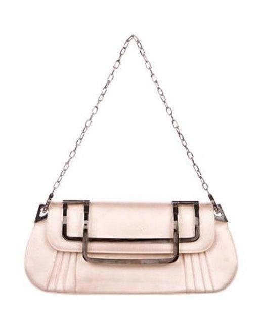 65fde3257e19 Dior - Metallic Satin Evening Bag Silver - Lyst ...