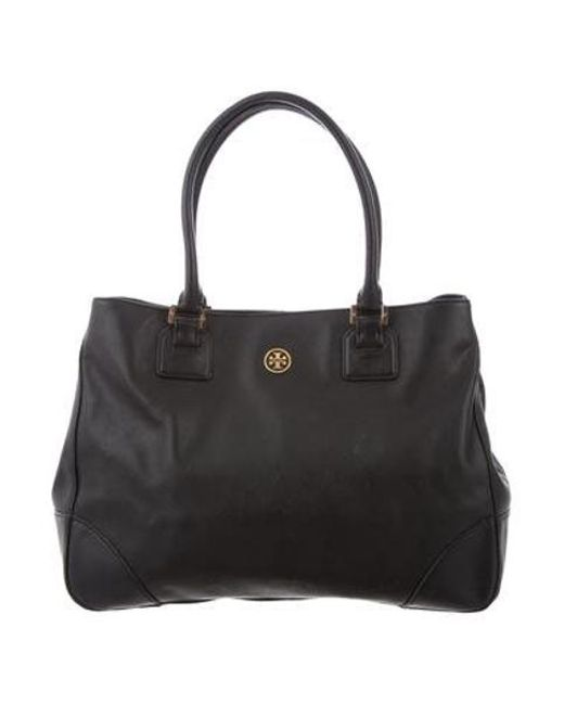 d1de237a419 Tory Burch - Metallic Large Robinson Double-zip Bag Black - Lyst ...