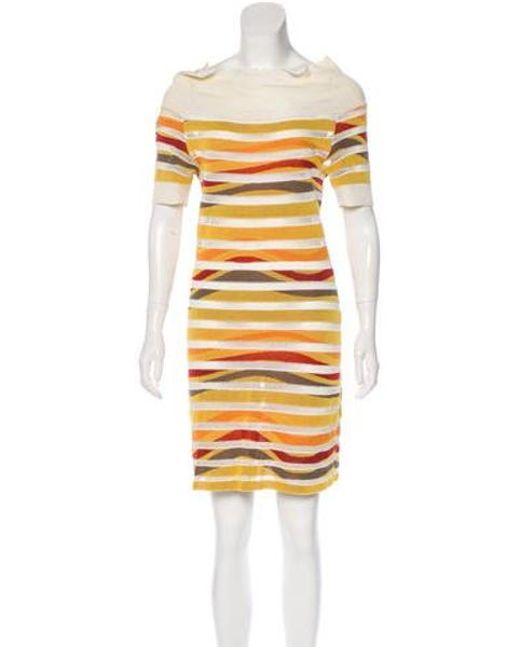 2115f0396d Missoni Sport - Yellow Short Sleeve Mini Dress - Lyst ...