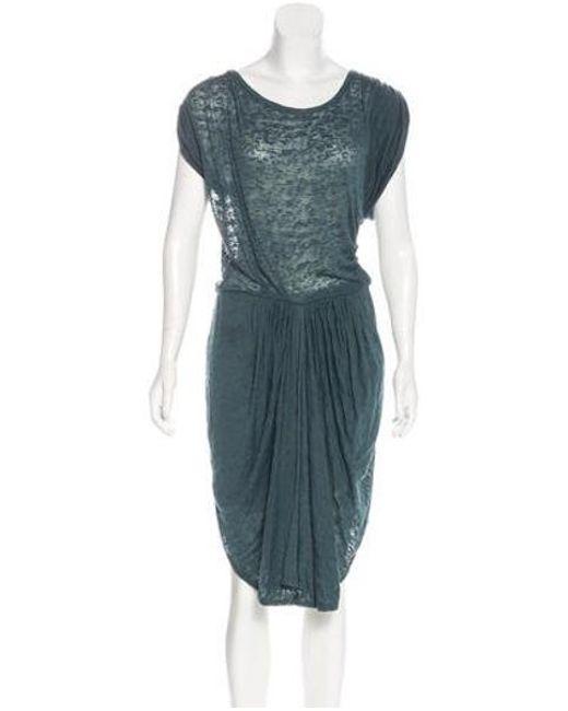 Étoile Isabel Marant - Blue Devoré Knee-length Dress - Lyst