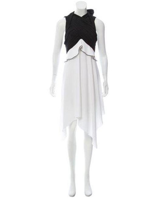 Proenza Schouler - Black Sleeveless Asymmetrical Dress - Lyst