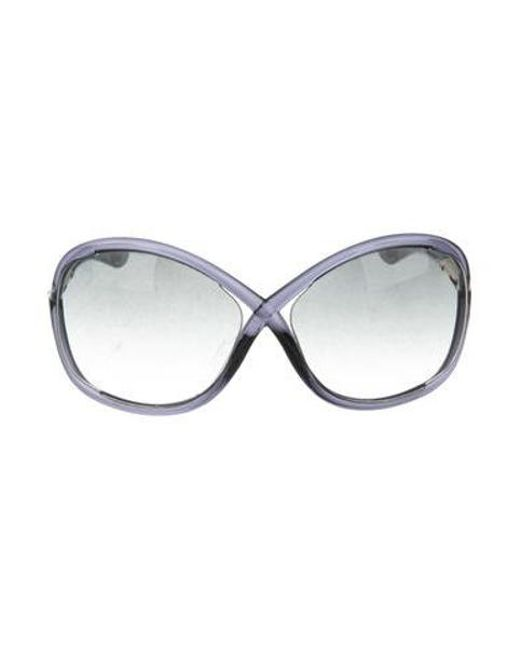 32c80d0ace9 Tom Ford - Blue Whitney Gradient Sunglasses - Lyst ...
