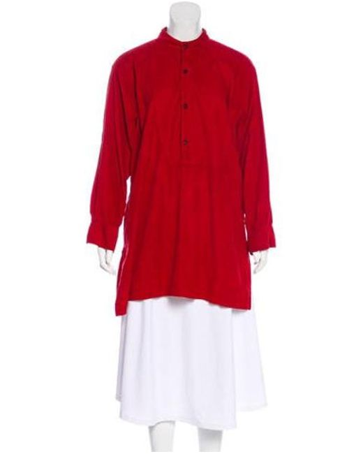 Eskandar - Red Corduroy Long Sleeve Top - Lyst