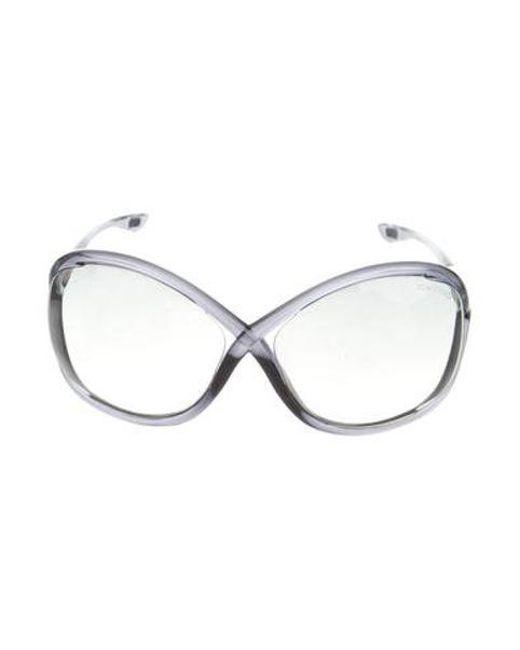7e5f1988818 Tom Ford - Metallic Whitney Gradient Sunglasses Black - Lyst ...