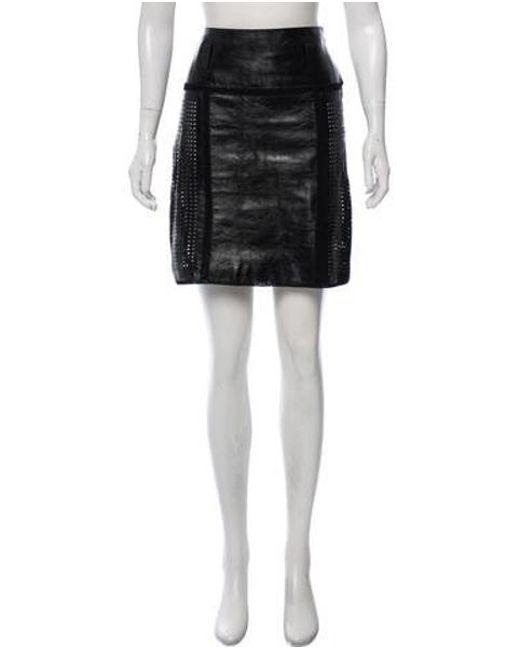 81e7853755d2 Proenza Schouler - Black Laser-cut Leather Skirt - Lyst ...