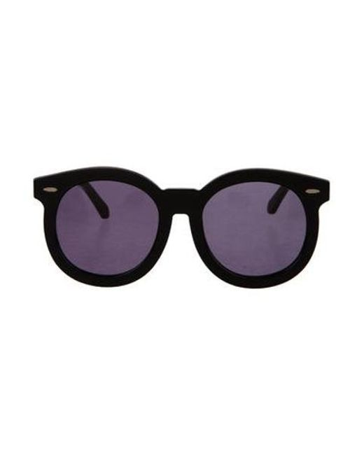 c8afc9d0561 Karen Walker - Metallic Super Duper Thistle Sunglasses Black - Lyst ...