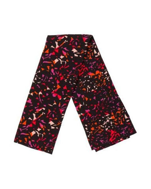 Marc Jacobs - Black Multicolor Printed Scarf - Lyst
