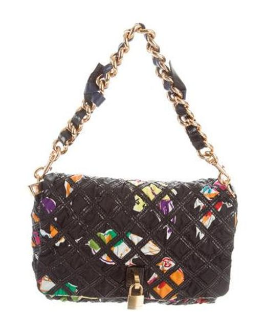 07916f2902d Marc Jacobs - Metallic Quilted Nylon Handle Bag Black - Lyst ...