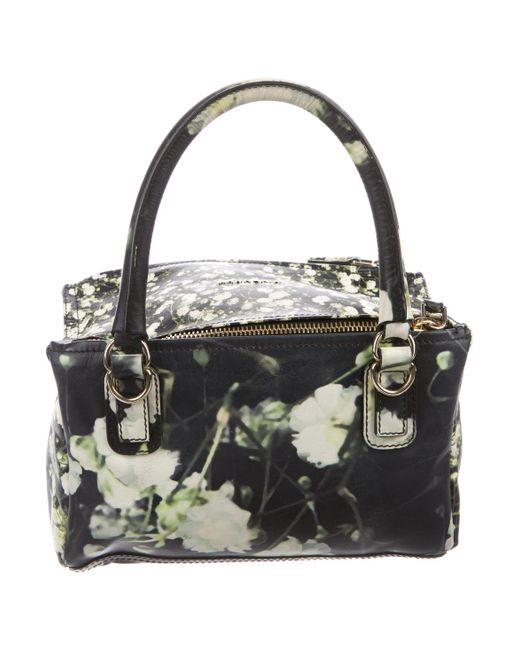 6b2aa645d2 ... Givenchy - Metallic Small Floral Pandora Satchel Black - Lyst ...