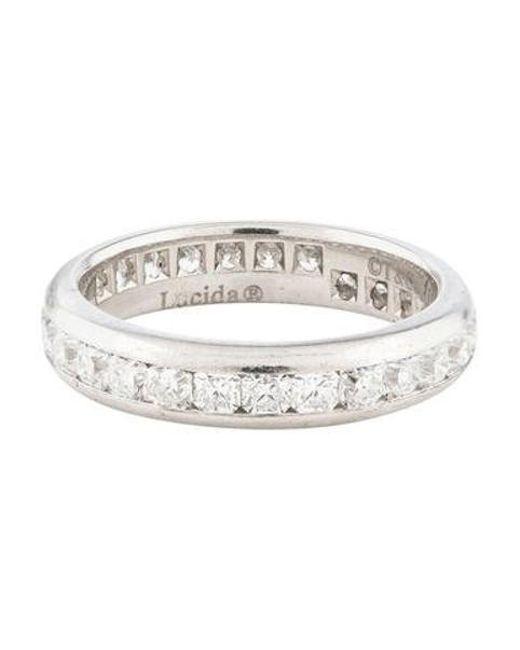7eb9c284b5a6 Tiffany   Co - Metallic Platinum Diamond Eternity Band - Lyst ...