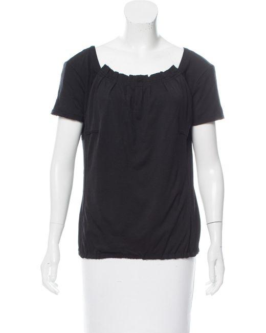 Louis Vuitton   Black Short Sleeve Ruffle Top   Lyst