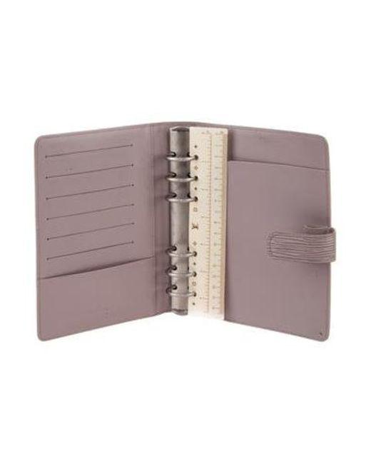 01e871419ff6 ... Louis Vuitton - Metallic Epi Medium Ring Agenda Cover Silver - Lyst