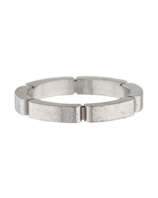 Lyst cartier maillon panthre wedding band ring white in metallic cartier metallic maillon panthre wedding band ring white lyst junglespirit Gallery