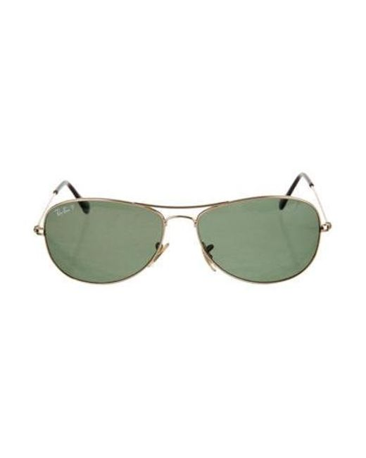 39c0a43f4a Ray-Ban - Metallic Cockpit Aviator Sunglasses Gold for Men - Lyst ...