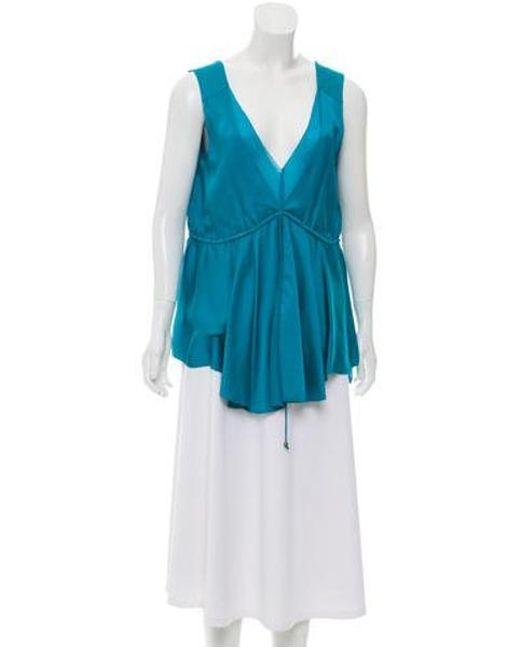 63505c7933df2 Diane von Furstenberg - Green Gussie Sleeveless Top - Lyst ...