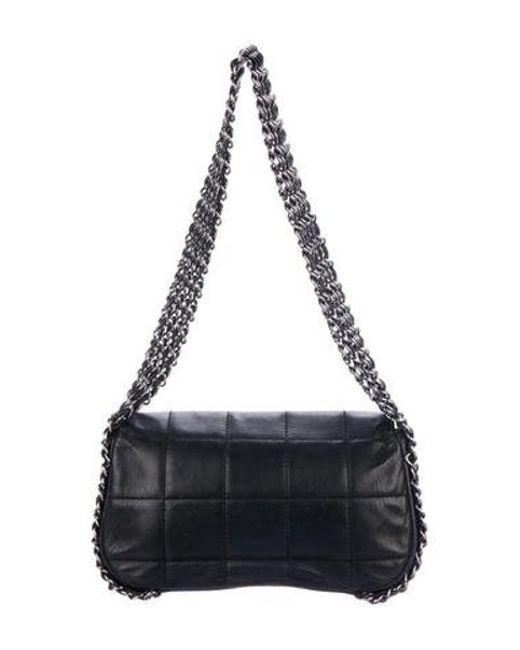 84cbacbb01bdeb ... Chanel - Metallic Multichain Square Quilt Flap Bag Black - Lyst