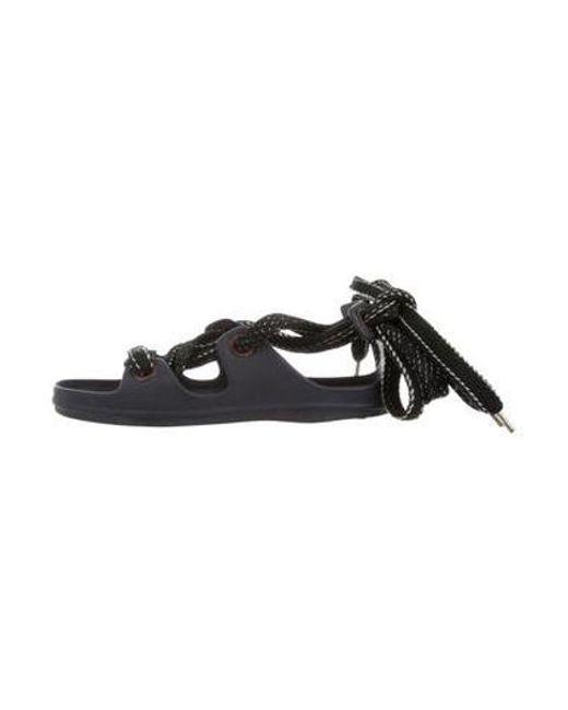 ec0c0eadce23ca Acne - Metallic Lace-up Rubber Sandals - Lyst ...