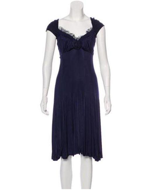 26c842e026 Blumarine - Blue Jersey Midi Dress - Lyst ...