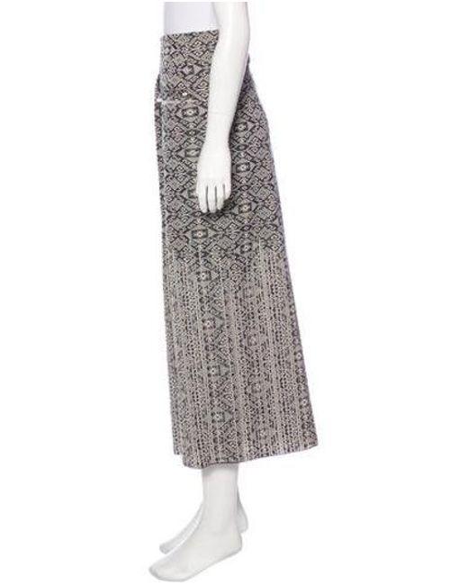 Lyst Chanel Jacquard Knit Skirt Pattern Prints Save 29